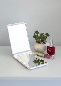 KAILA Kosmetikspiegel Fold III Weiß - 12x8 cm