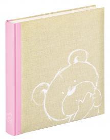 Dreamtime Kinderalbum Rosa - 28x30,5 cm (50 weiße Seiten / 25 Blatt)