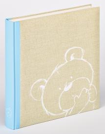 Dreamtime Kinderalbum Blau - 28x30,5 cm (50 weiße Seiten / 25 Blatt)