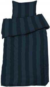 Bettwäsche-Set Big Stripe Satin 2-teilig - Marine