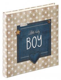 Little Babyalbum Boy Blau - 28x30,5 cm (50 weiße Seiten / 25 Blatt)