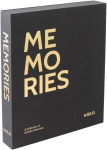 KAILA MEMORIES Black - Coffee Table Photo Album (60 Schwarze Seiten)