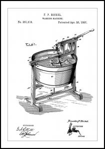 Patent Print - Washing Machine - White Poster