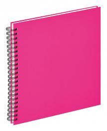 Fun Spiralalbum Rosa - 30x30 cm (50 weiße Seiten / 25 Blatt)