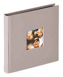 Fun Album Grau - 18x18 cm (30 schwarze Seiten / 15 Blatt)