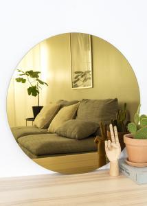 KAILA Runder Spiegel Gold 70 cm Ø