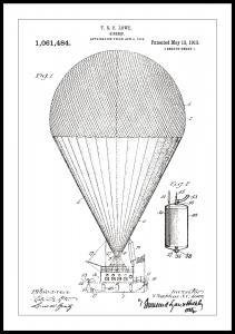Patentzeichnung - Luftschiff - Weiß Poster