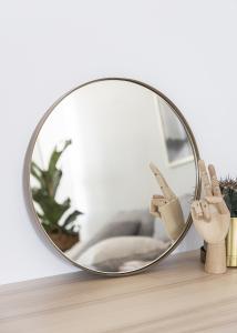 Spiegel House Doctor Reflektion Antik Messing 40 cm Ø