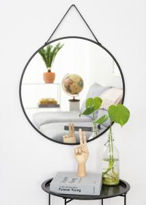 Spiegel Trapani Schwarz 60 cm Ø