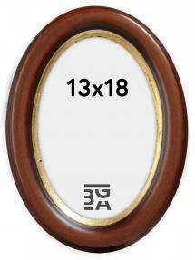 Molly Oval Braun 13x18 cm