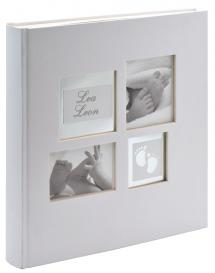 Little Foot Album Grau-Weiß - 28x30,5 cm (60 weiße Seiten / 30 Blatt)