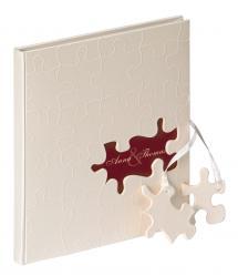Puzzle Gästebuch - 23x25 cm (144 weiße Seiten / 72 Blatt)