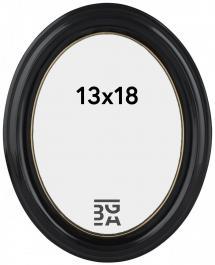 Eiri Mozart Oval Schwarz 13x18 cm