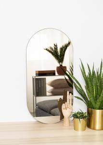 KAILA Spiegel Oval Dark Bronze 35x70 cm
