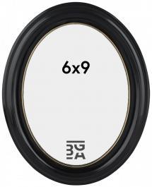 Eiri Mozart Oval Schwarz 6x9 cm