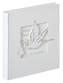 Cicogna Babyalbum Weiß - 28x30,5 cm (50 weiße Seiten / 25 Blatt)
