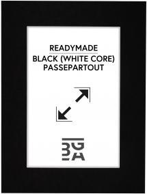 Passepartout Schwarz (weißer Kern) A4 21x29,7 cm (14x19,5)