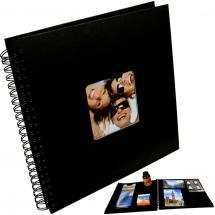 Fun Spiralalbum Schwarz - 30x30 cm (50 schwarze Seiten / 25 Blatt)