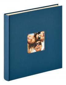 Fun selbstklebend Blau - 33x34 cm (50 weiße Seiten / 25 Blatt)