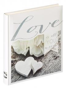 Love is all you need - Fotoalbum - 28x30,5 cm (50 weiße Seiten / 25 Blatt)