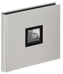 Black & White Album Grau - 26x25 cm (50 schwarze Seiten / 25 Blatt)