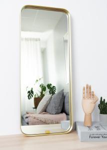 Spiegel Square Messing 31x76 cm