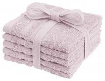 Waschtuch Basic Frottee - Rosa 25x25 cm 5er-Pack