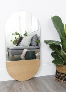 Spiegel Oval Eiche 50x100 cm
