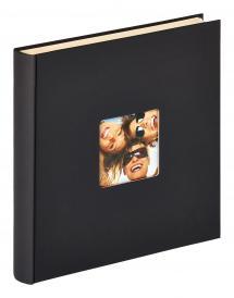 Fun selbstklebend Schwarz - 33x34 cm (50 weiße Seiten / 25 Blatt)