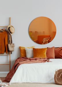 Spiegel Slim Orange 90 cm Ø