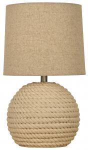 Tischlampe Sisal - Naturweiß