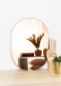 KAILA Spiegel Oval Rose Gold 30x40 cm