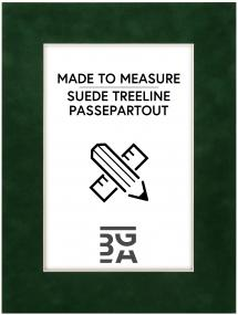 Passepartout Suede Treeline - Maßanfertigung (Weißer Kern)