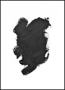 Paintbrush Black Poster