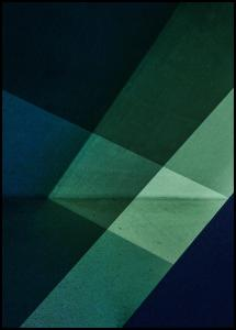 Green & Blue Graphic Poster