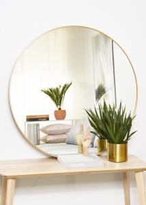 KAILA Round Mirror - Edge Gold 110 cm Ø