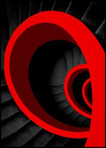 A red spiral Poster