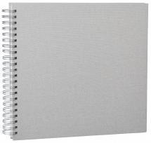 Base Line Canvas Wire-O Beige 30x30 cm (50 weiße Seiten / 25 Blatt)