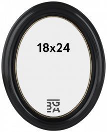 Eiri Mozart Oval Schwarz 18x24 cm