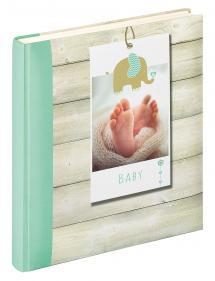 Welcome Babyalbum Grün - 28x30,5 cm (50 weiße Seiten / 25 Blatt)