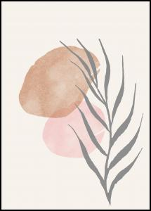 Painted Leaf II Poster