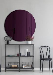 Spiegel Slim Purple 70 cm Ø