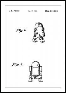 Patentzeichnung - Star Wars - R2-D2 Poster