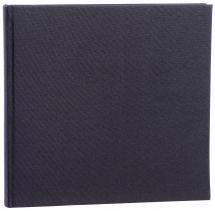 Base Line Canvas Schwarz 26x25 cm (80 weiße Seiten / 40 Blatt)