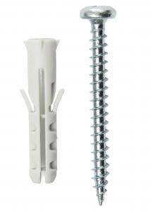 Schraube und Dübel für Betonwand - 5er-Pack (40x8 mm)