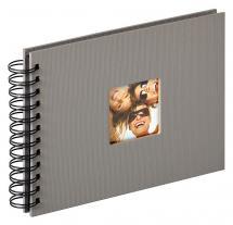 Fun Spiralalbum Grau - 23x17 cm (40 schwarze Seiten / 20 Blatt)