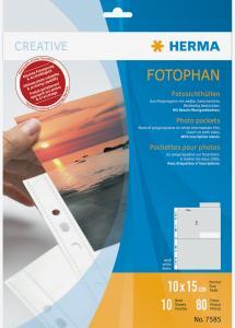 Herma Fototaschen 10x15 cm vertikal - 10er-Pack Weiß