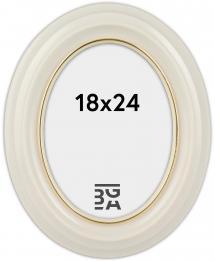 Eiri Mozart Oval Weiß 18x24 cm