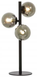 Tischlampe Molekyl 3 - Schwarz/Rauch