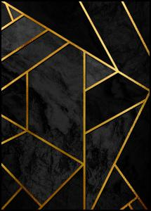 Gold & Black Marble Poster